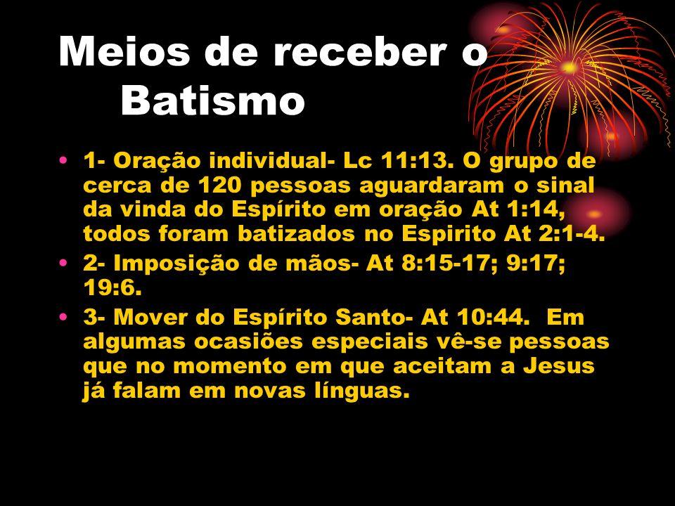 Meios de receber o Batismo