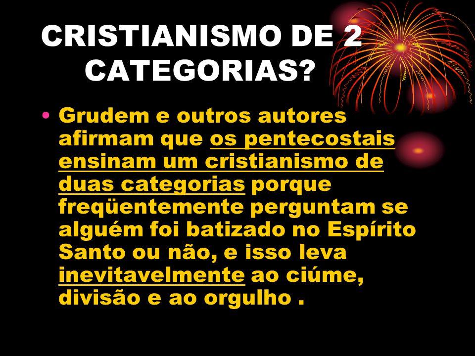 CRISTIANISMO DE 2 CATEGORIAS
