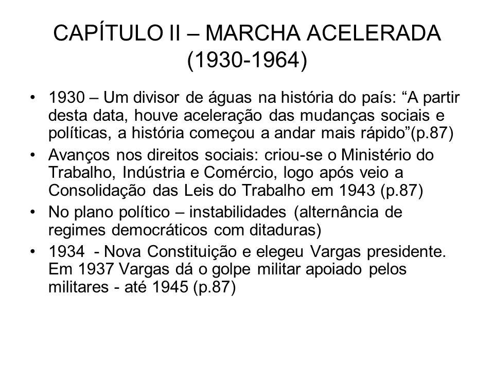 CAPÍTULO II – MARCHA ACELERADA (1930-1964)