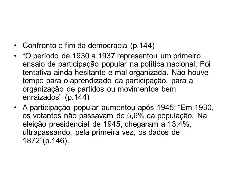 Confronto e fim da democracia (p.144)