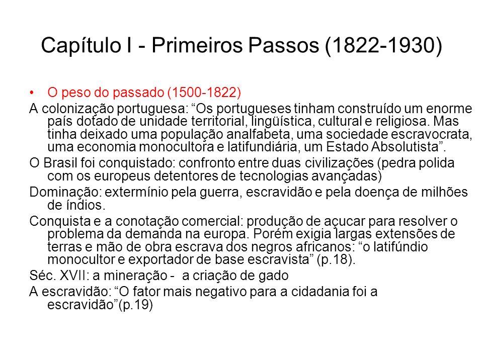 Capítulo I - Primeiros Passos (1822-1930)