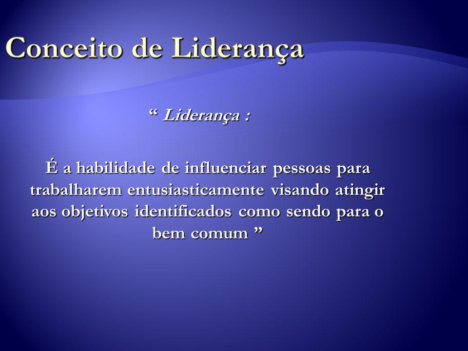 Conceito de Liderança Liderança :