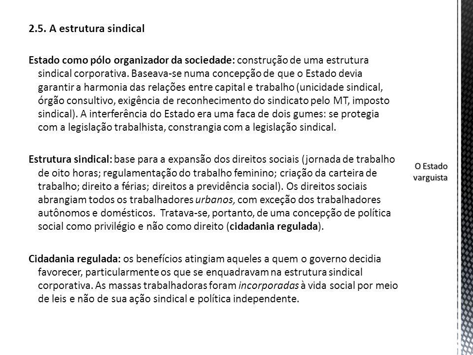 2.5. A estrutura sindical