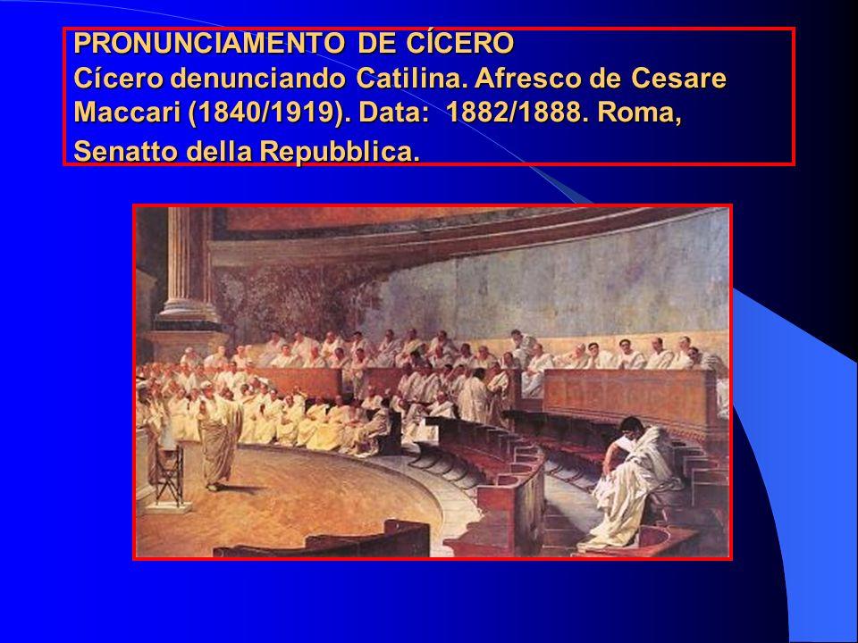 PRONUNCIAMENTO DE CÍCERO Cícero denunciando Catilina