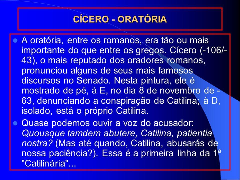 CÍCERO - ORATÓRIA