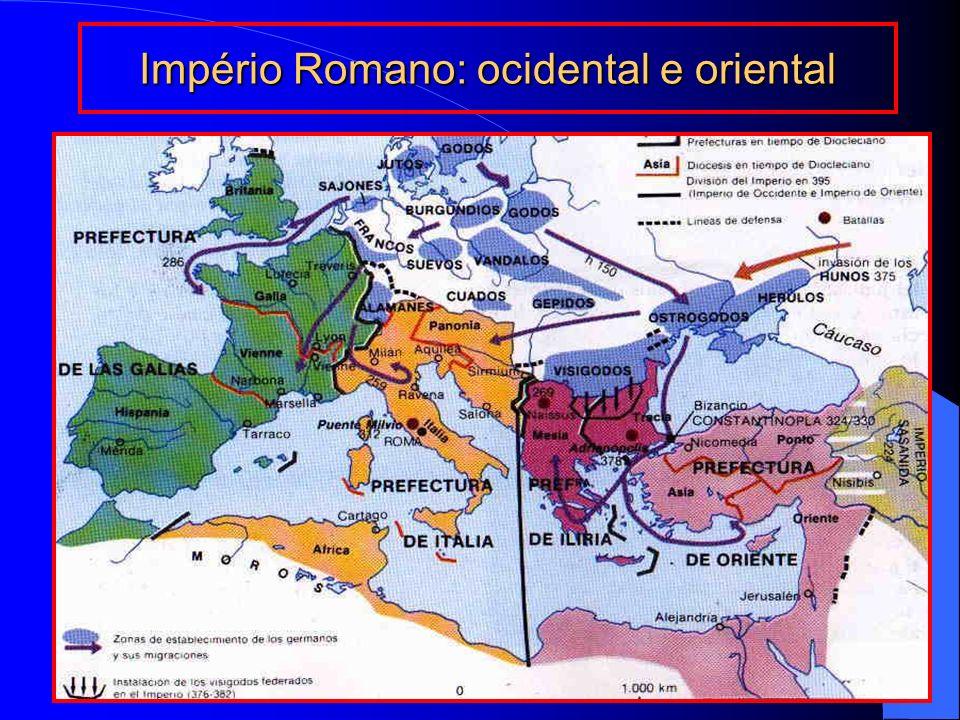 Império Romano: ocidental e oriental