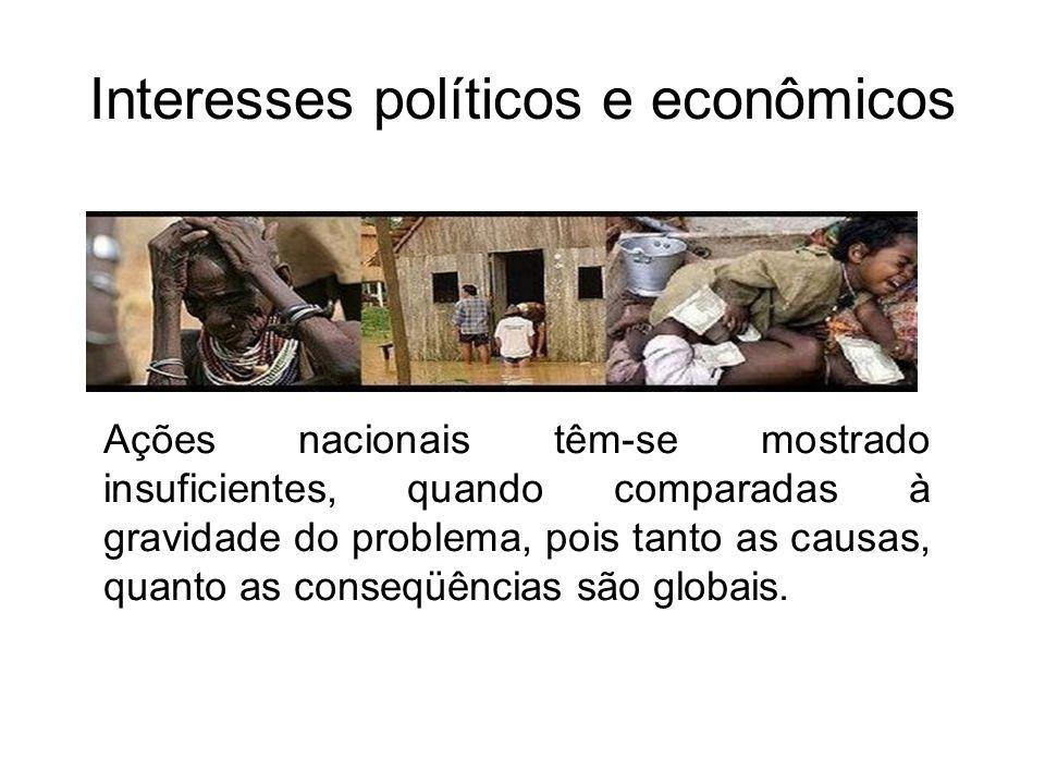 Interesses políticos e econômicos