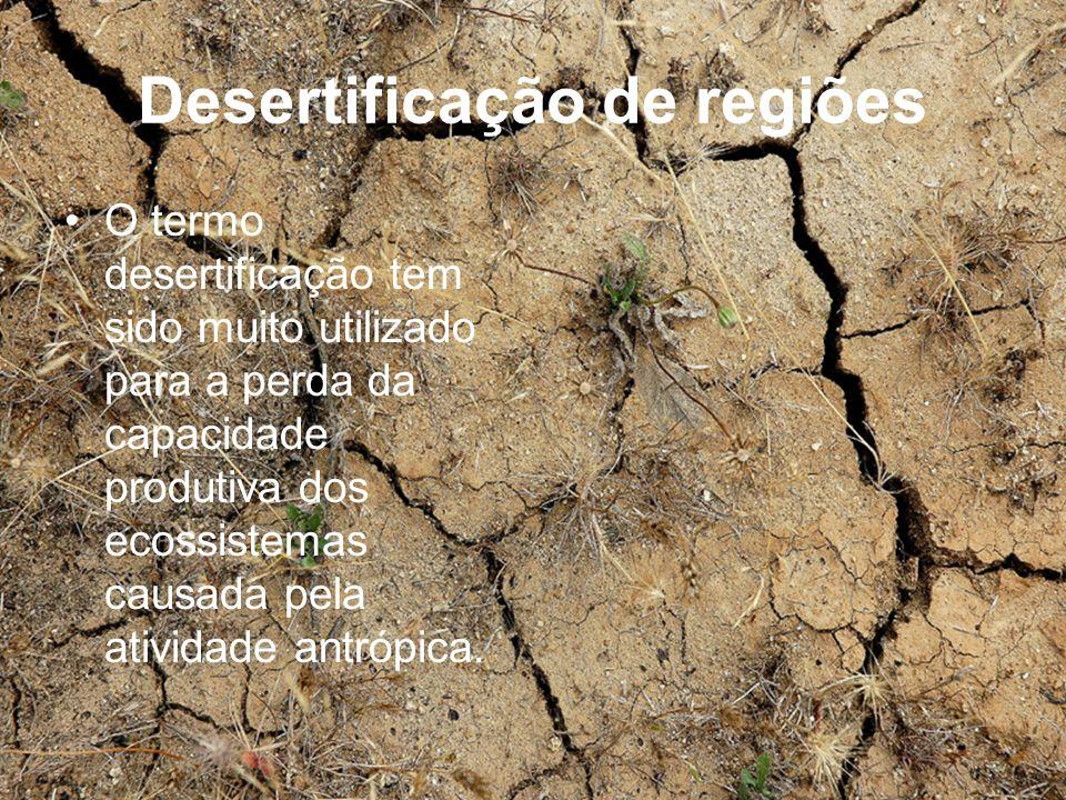 Desertificação de regiões