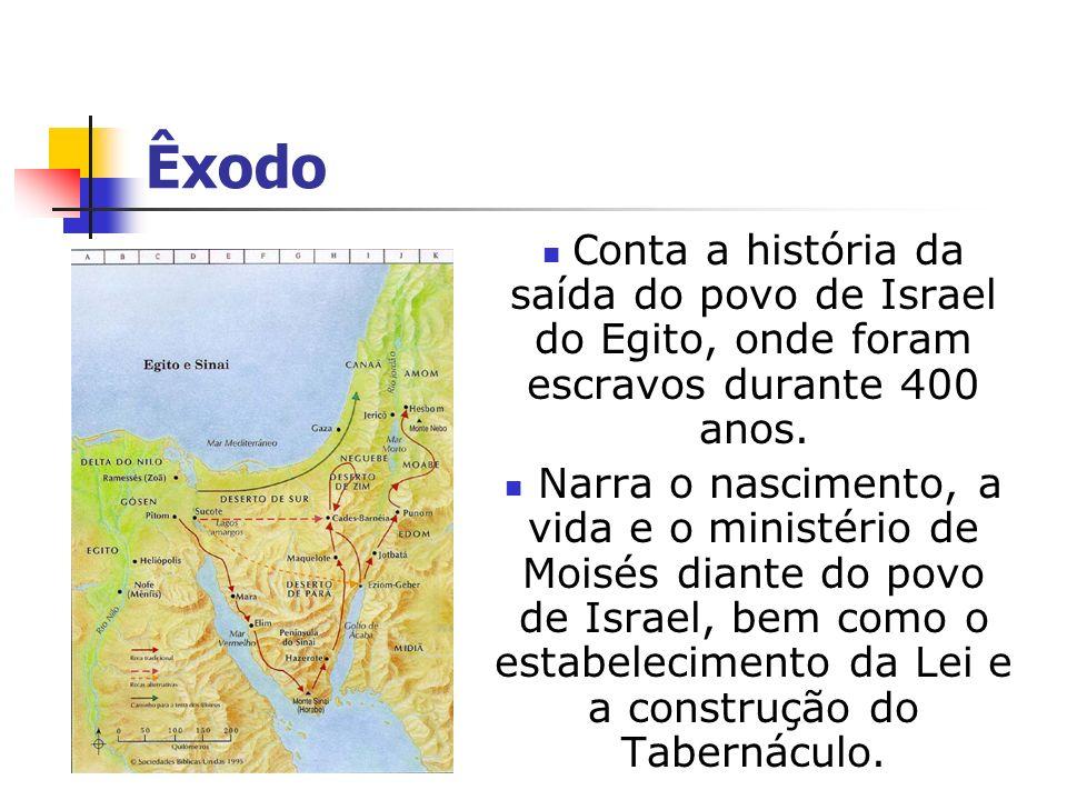 Êxodo Conta a história da saída do povo de Israel do Egito, onde foram escravos durante 400 anos.