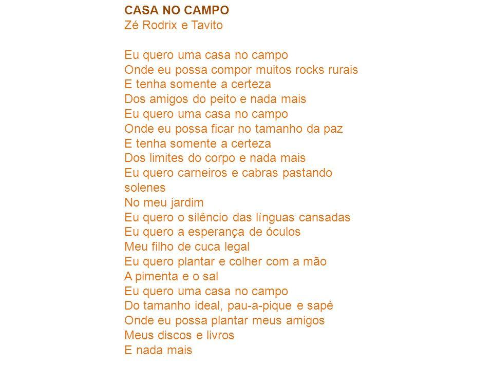 CASA NO CAMPO Zé Rodrix e Tavito.