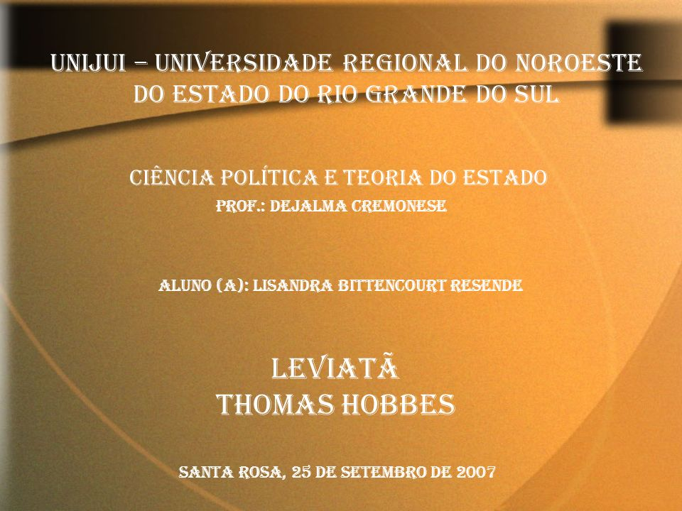 UNIJUI – Universidade Regional do Noroeste do Estado do Rio Grande do Sul