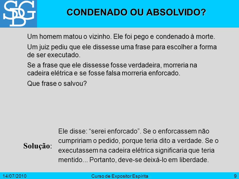 CONDENADO OU ABSOLVIDO