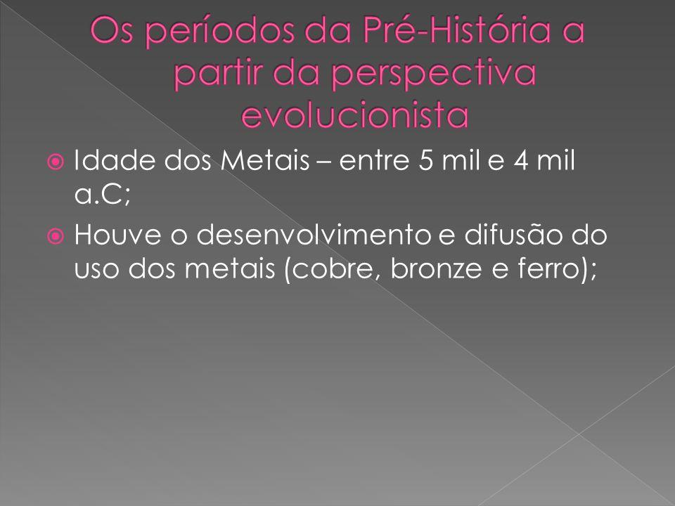 Os períodos da Pré-História a partir da perspectiva evolucionista