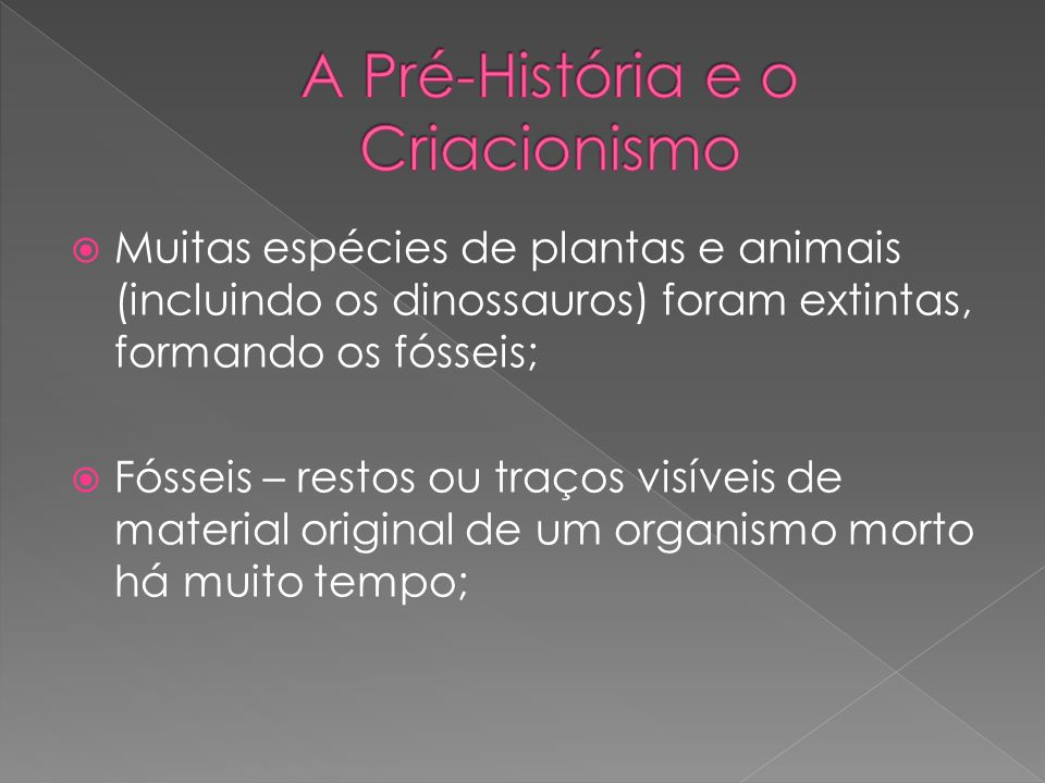 A Pré-História e o Criacionismo