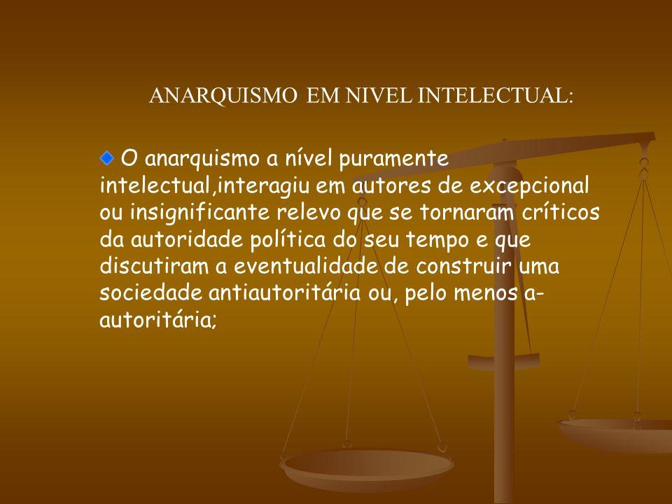 ANARQUISMO EM NIVEL INTELECTUAL: