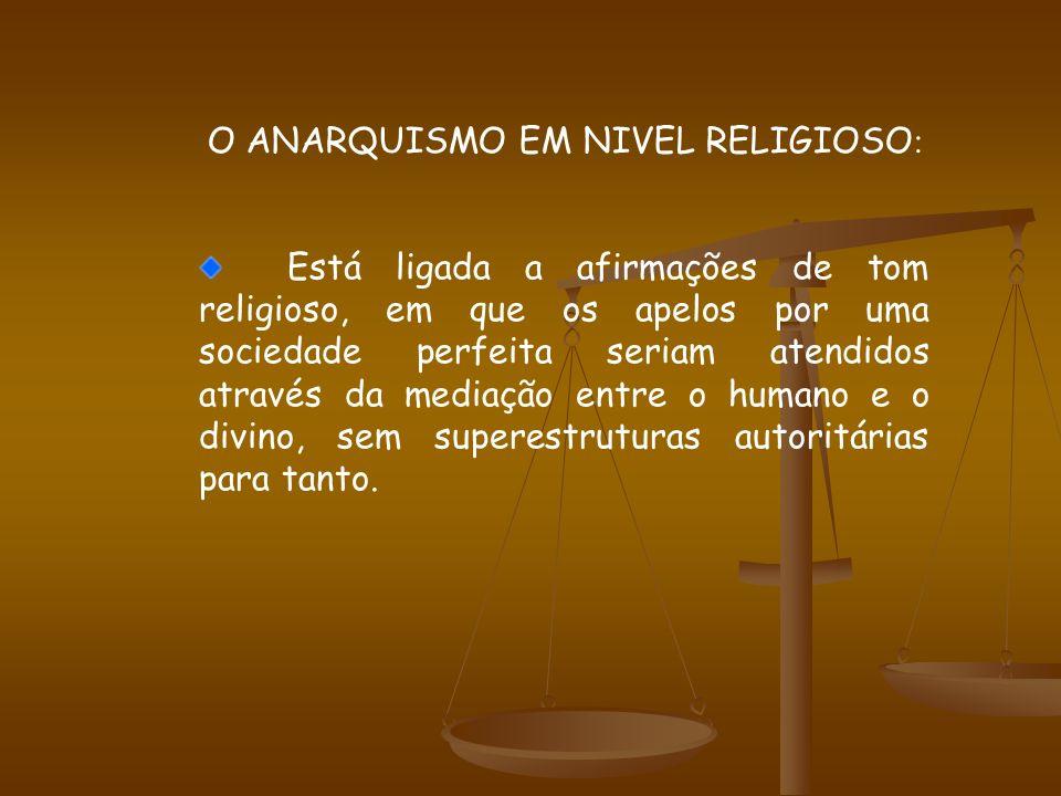 O ANARQUISMO EM NIVEL RELIGIOSO: