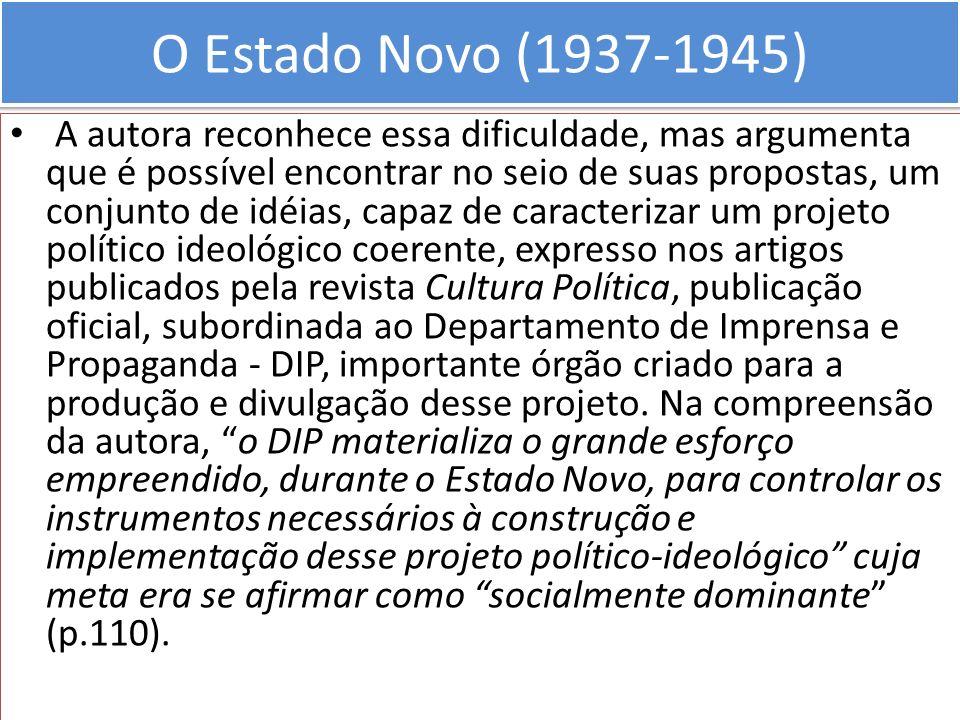 O Estado Novo (1937-1945)
