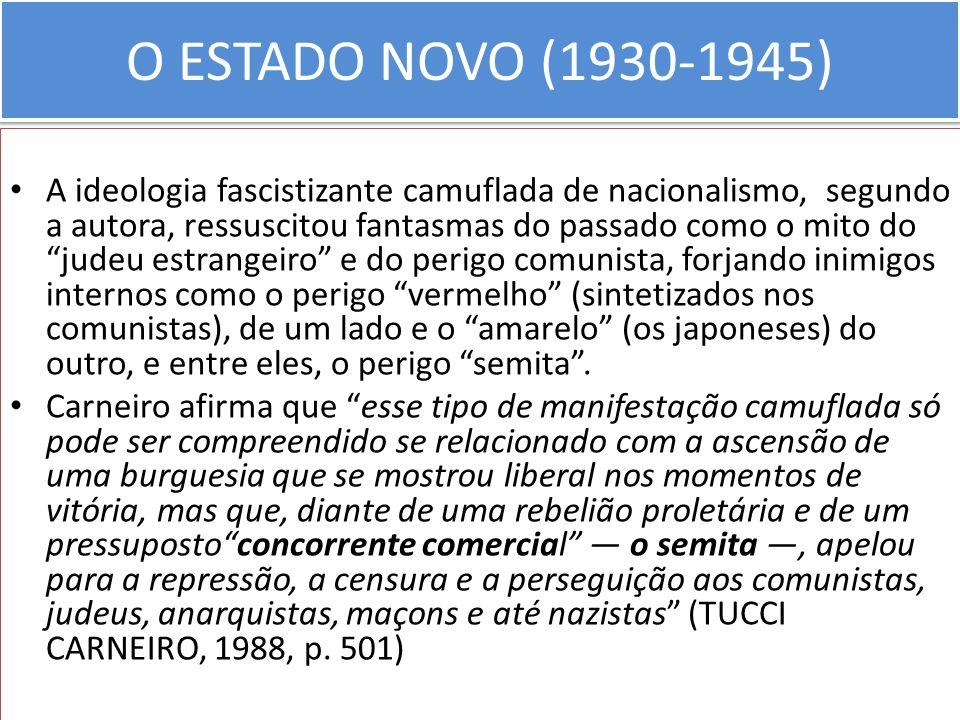 O ESTADO NOVO (1930-1945)