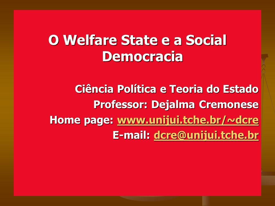 O Welfare State e a Social Democracia