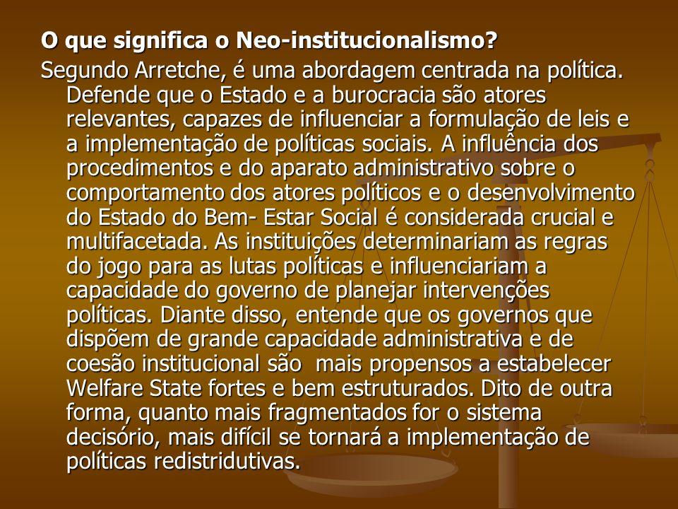 O que significa o Neo-institucionalismo