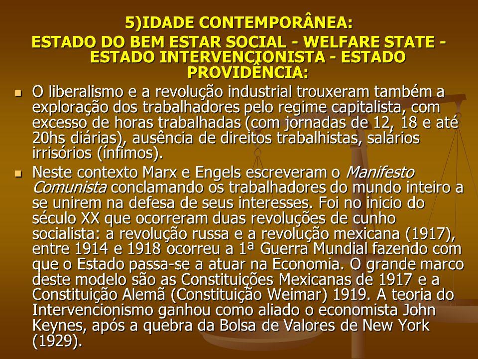 5)IDADE CONTEMPORÂNEA: