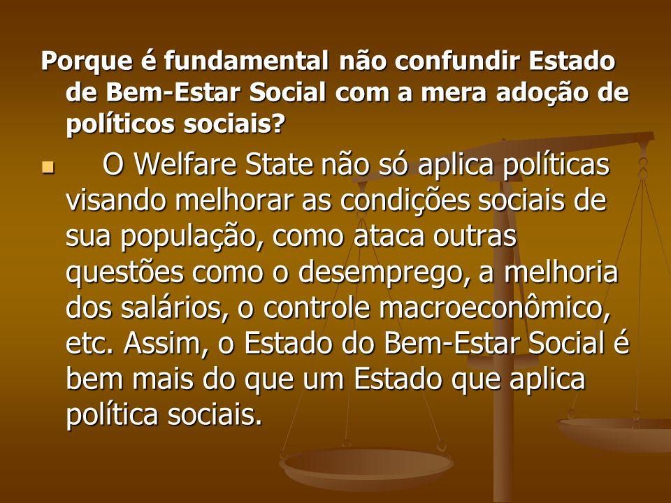 Porque é fundamental não confundir Estado de Bem-Estar Social com a mera adoção de políticos sociais