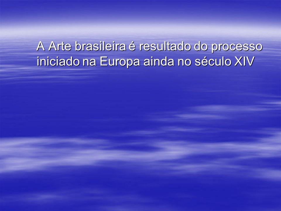 A Arte brasileira é resultado do processo iniciado na Europa ainda no século XIV