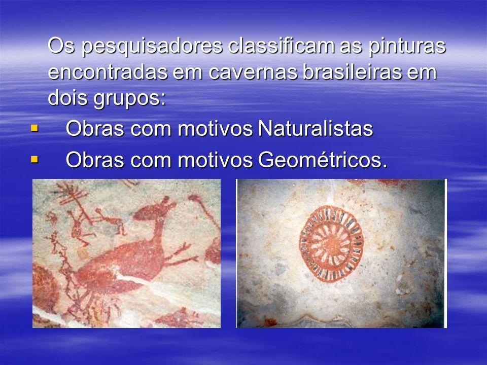 Os pesquisadores classificam as pinturas encontradas em cavernas brasileiras em dois grupos: