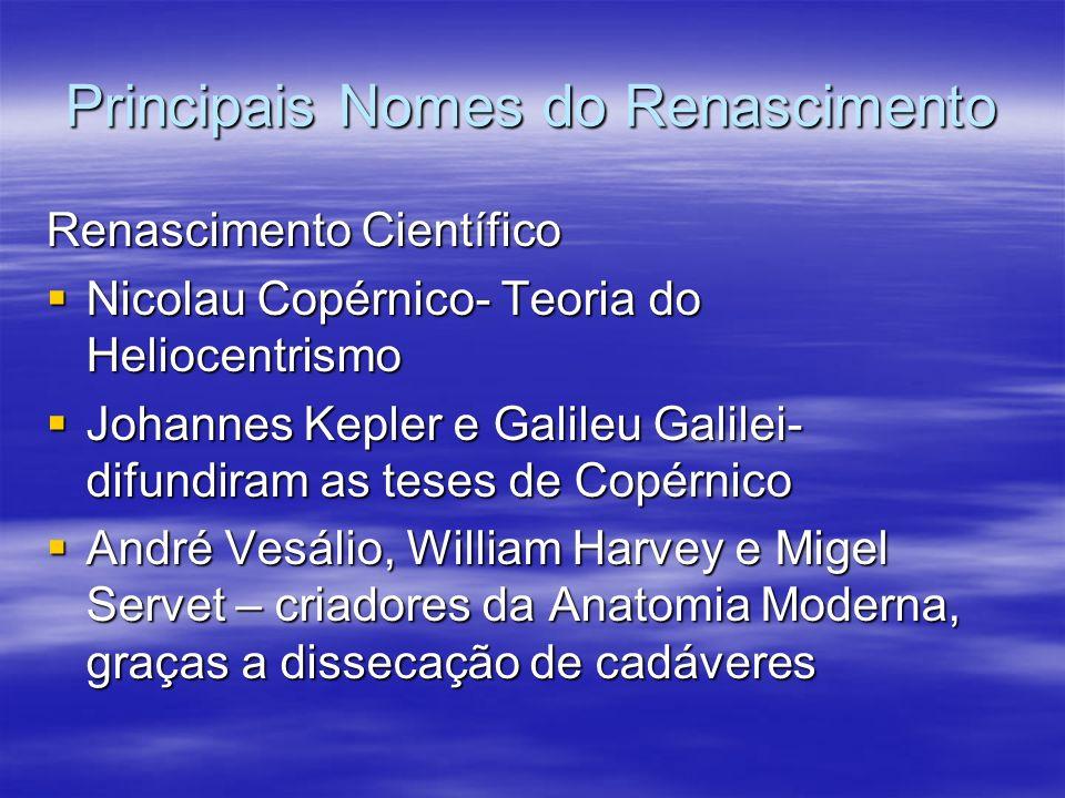 Principais Nomes do Renascimento