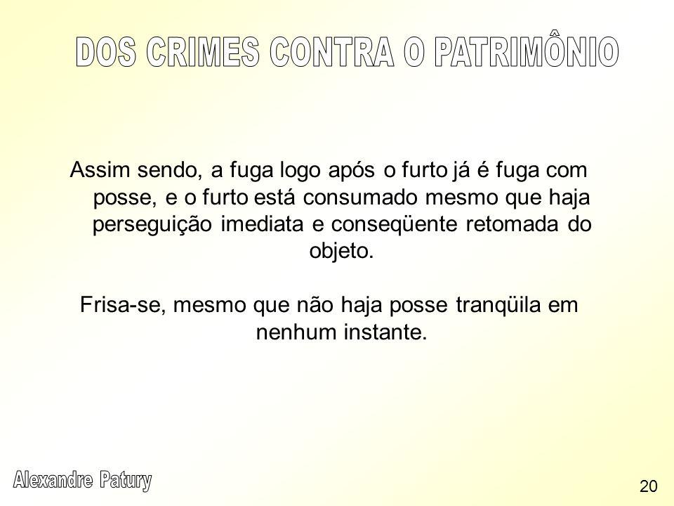 DOS CRIMES CONTRA O PATRIMÔNIO