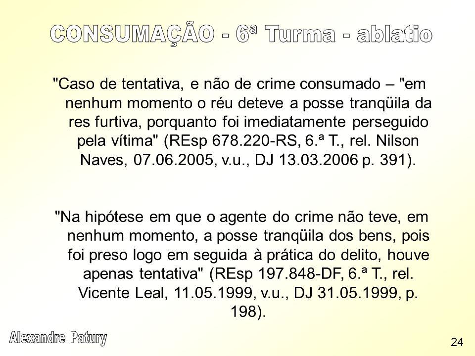 CONSUMAÇÃO - 6ª Turma - ablatio