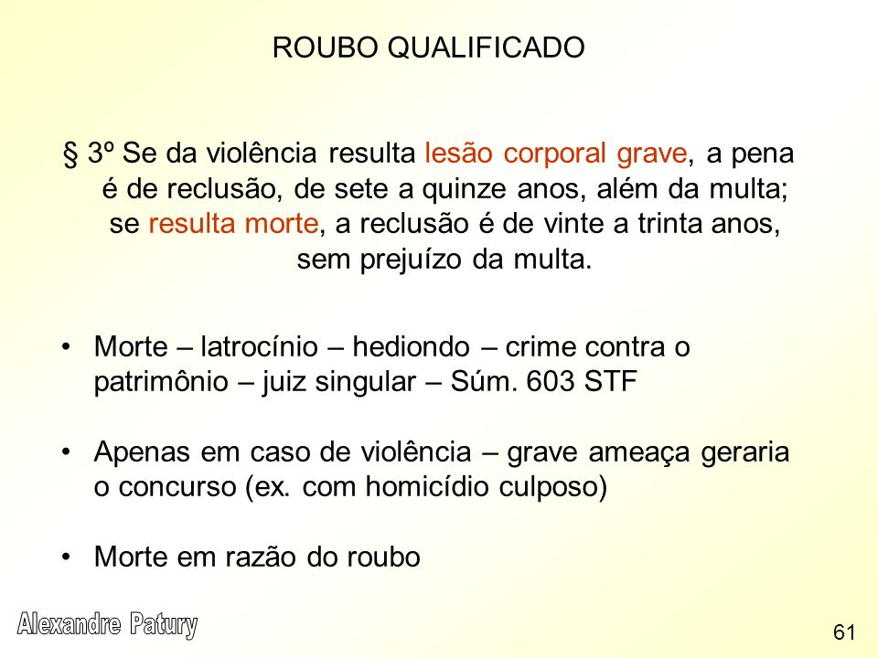 ROUBO QUALIFICADO