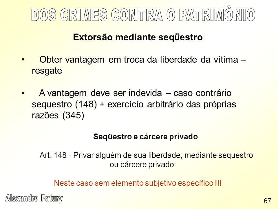 Extorsão mediante seqüestro Seqüestro e cárcere privado
