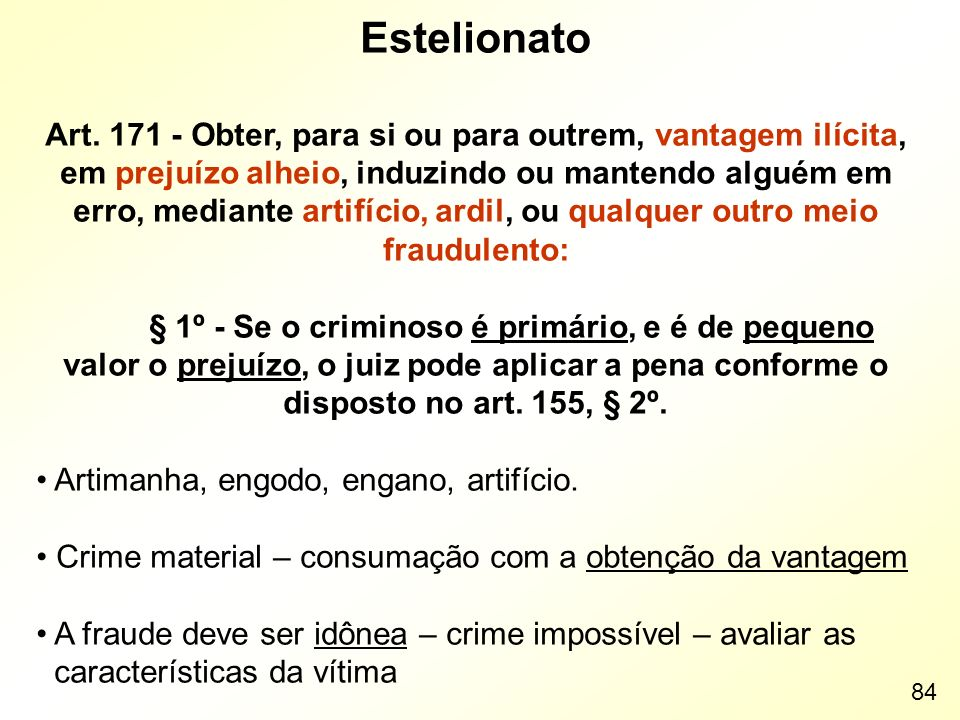 Estelionato