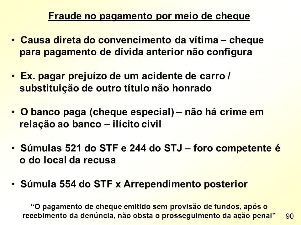 Fraude no pagamento por meio de cheque