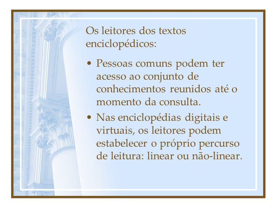 Os leitores dos textos enciclopédicos: