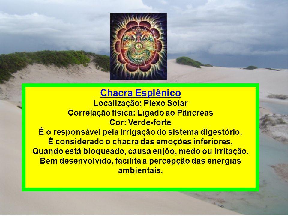 Chacra Esplênico Localização: Plexo Solar