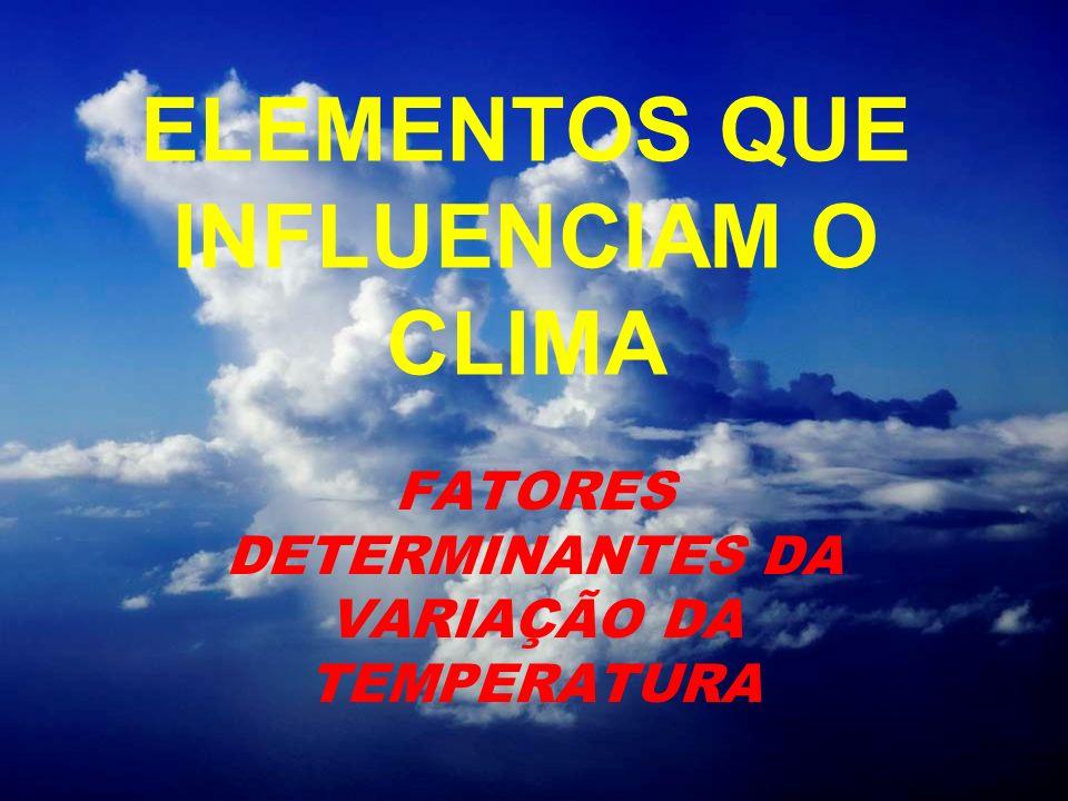 ELEMENTOS QUE INFLUENCIAM O CLIMA