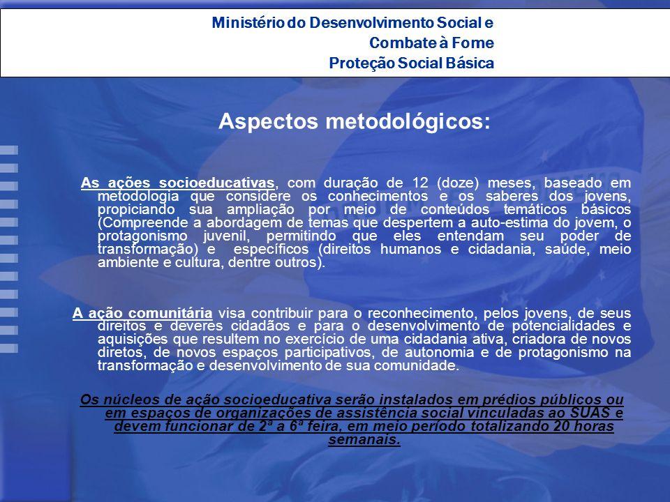 Aspectos metodológicos: