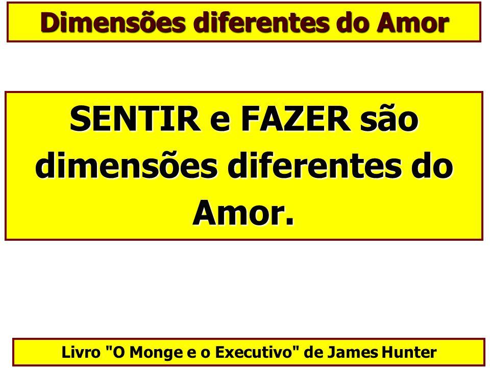 SENTIR e FAZER são dimensões diferentes do Amor.