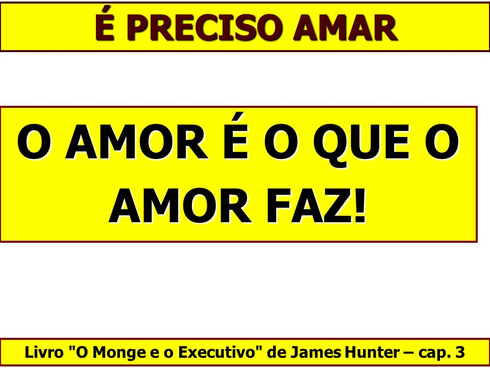 Livro O Monge e o Executivo de James Hunter – cap. 3