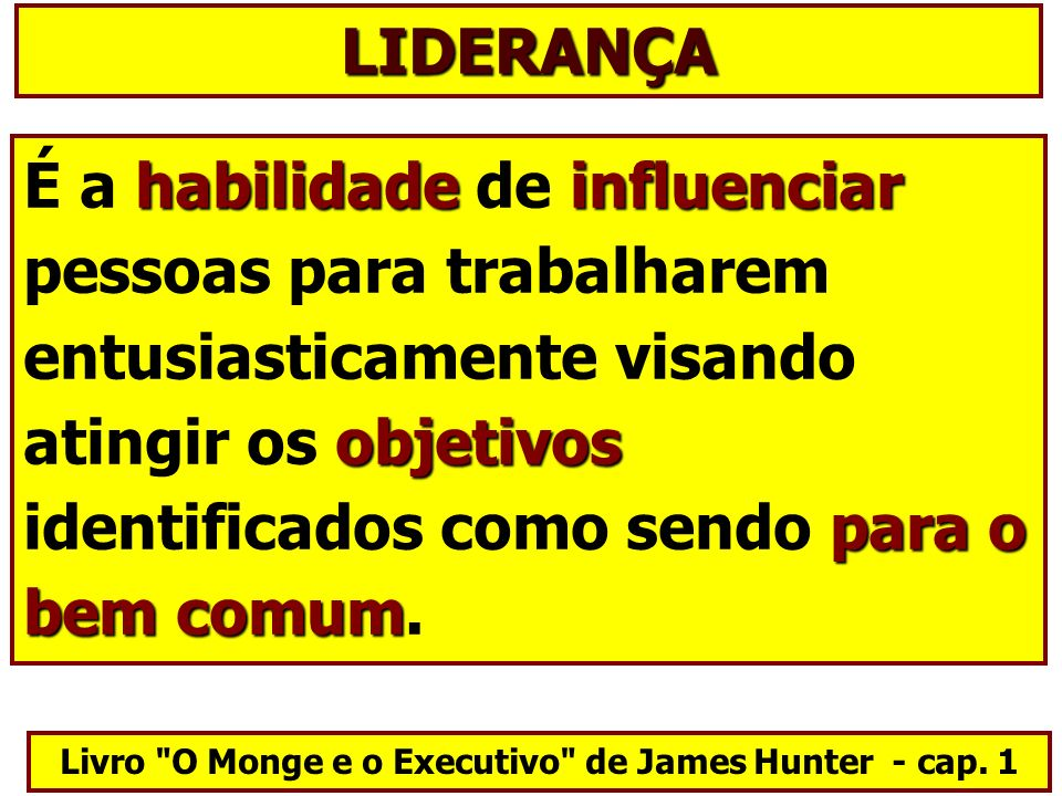 Livro O Monge e o Executivo de James Hunter - cap. 1