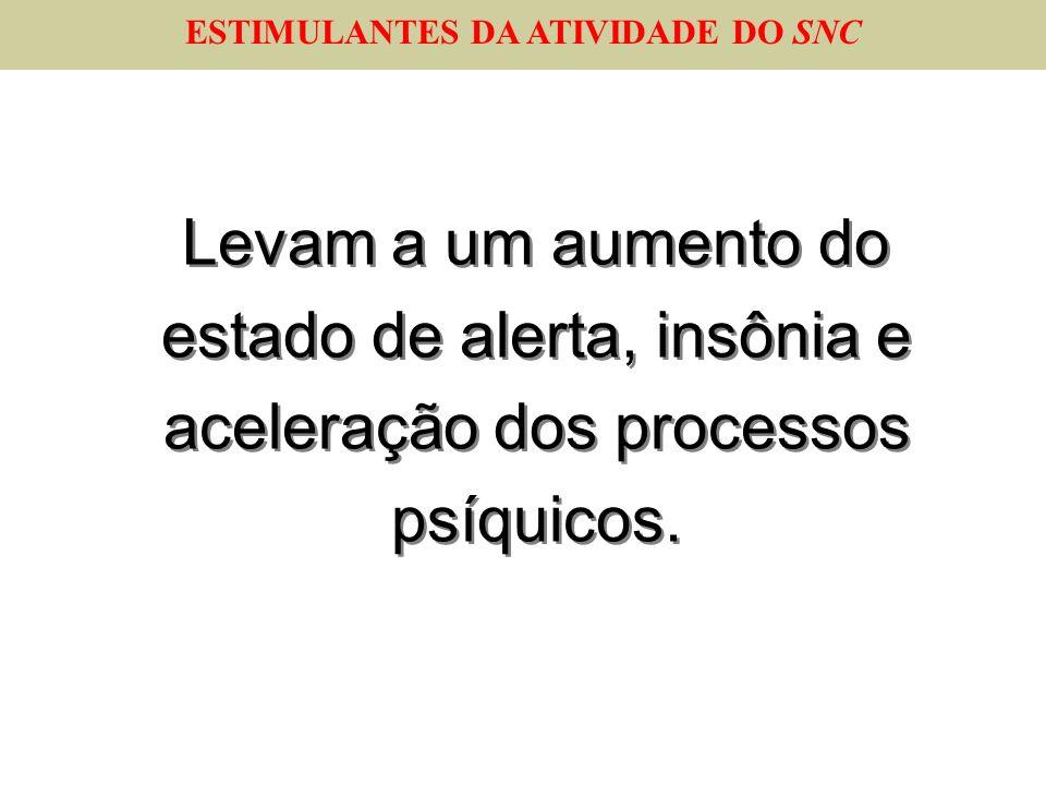 ESTIMULANTES DA ATIVIDADE DO SNC