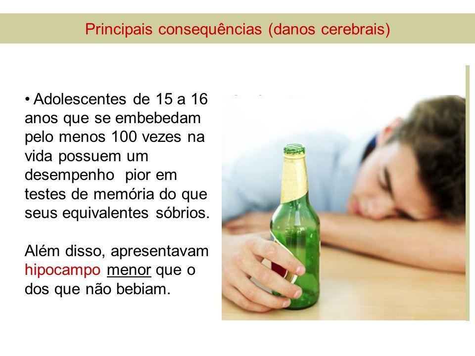 Principais consequências (danos cerebrais)