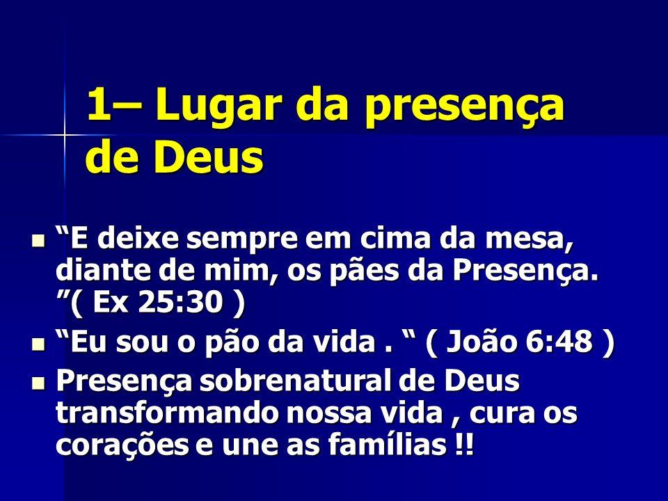 1– Lugar da presença de Deus