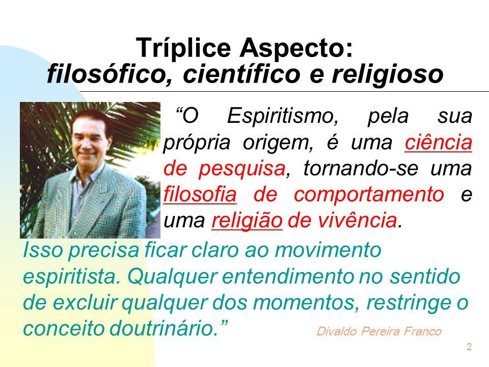Tríplice Aspecto: filosófico, científico e religioso