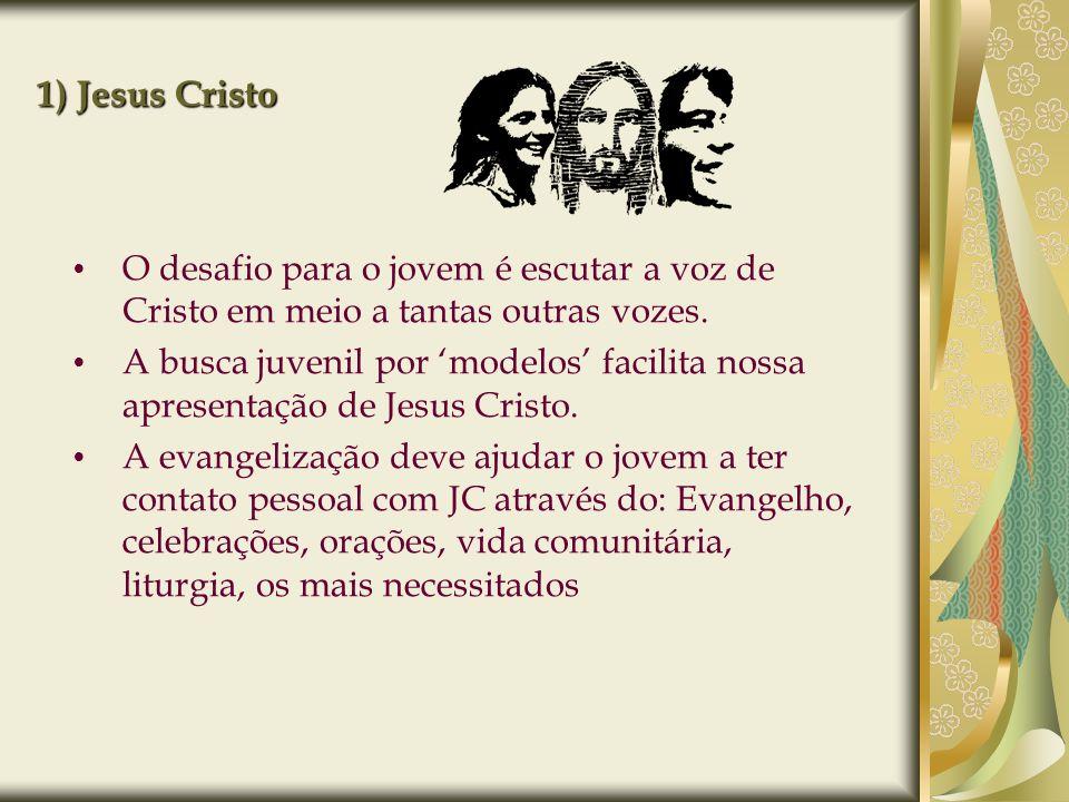 1) Jesus Cristo O desafio para o jovem é escutar a voz de Cristo em meio a tantas outras vozes.