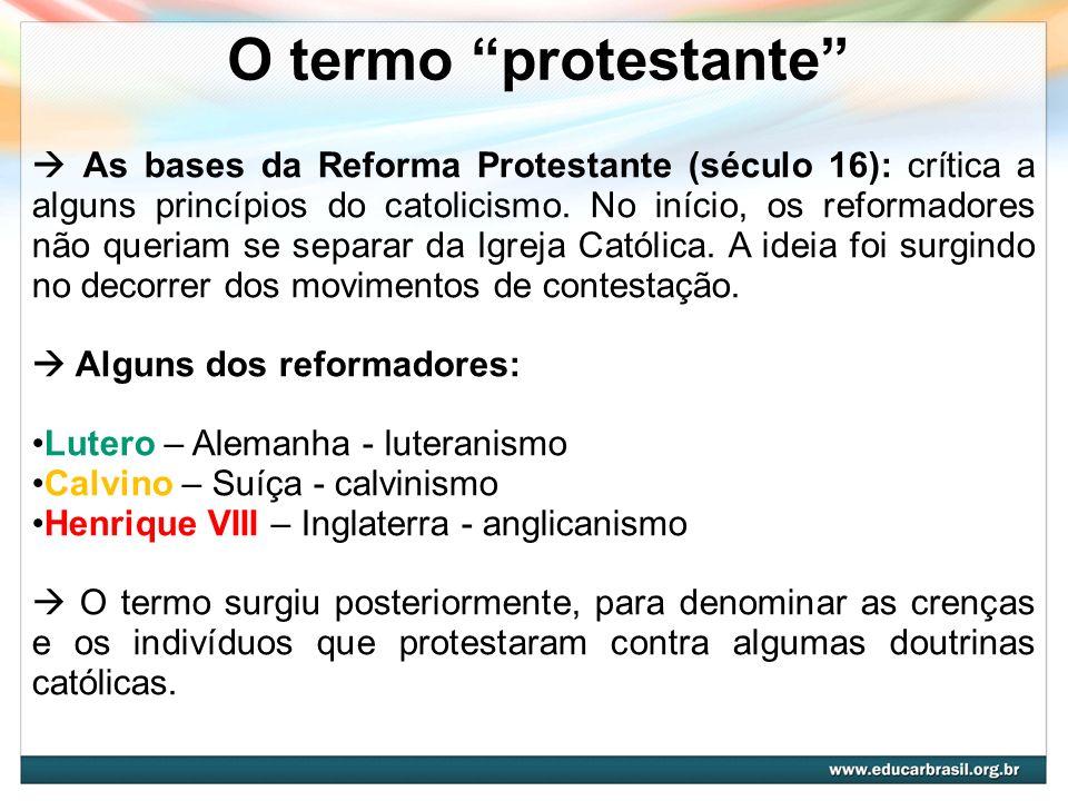 O termo protestante
