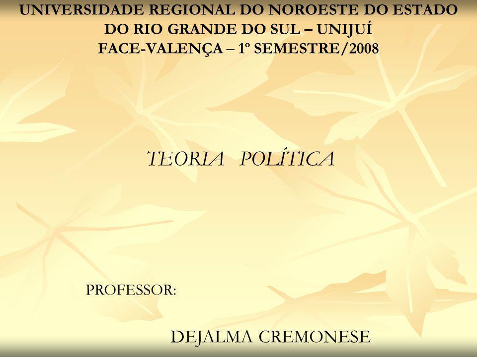 TEORIA POLÍTICA DEJALMA CREMONESE