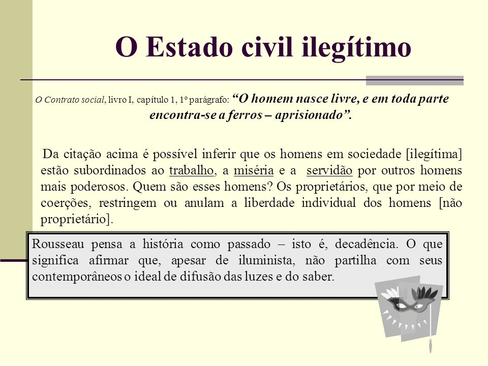 O Estado civil ilegítimo